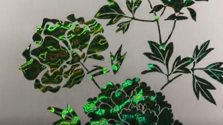 Digital hot sleeking film/ Toner Foil: Green Wave